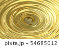 Light shining on gold water ripple, abstract 54685012