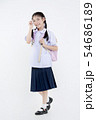 Portrait of Lovely Asian girl in school uniform 54686189