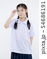Portrait of Lovely Asian girl in school uniform 54686191
