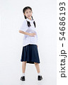 Portrait of Lovely Asian girl in school uniform 54686193