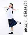 Portrait of Lovely Asian girl in school uniform 54686194