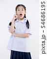 Portrait of Lovely Asian girl in school uniform 54686195