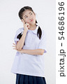 Portrait of Lovely Asian girl in school uniform 54686196