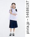 Portrait of Lovely Asian girl in school uniform 54686197