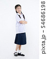 Portrait of Lovely Asian girl in school uniform 54686198