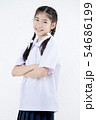 Portrait of Lovely Asian girl in school uniform 54686199