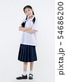 Portrait of Lovely Asian girl in school uniform 54686200