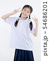 Portrait of Lovely Asian girl in school uniform 54686201