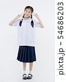 Portrait of Lovely Asian girl in school uniform 54686203