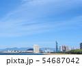 綺麗な砂浜と福岡市百道一帯 54687042
