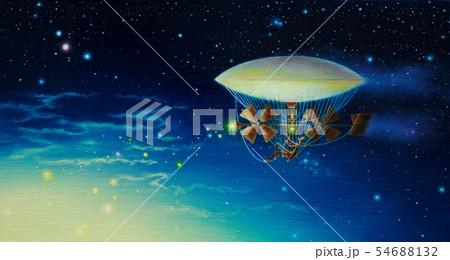 夜明けを創る飛行船 54688132