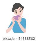 女性 スマホ 携帯 54688582