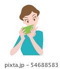 女性 スマホ 携帯 54688583
