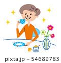 お茶の時間 主婦 イラスト 54689783