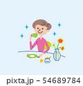 お茶の時間 主婦 イラスト 54689784