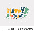 Happy birthday on white. 54695269