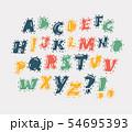 Vector cartoon alphabet 54695393