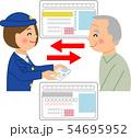 運転免許証を返納する高齢者 54695952