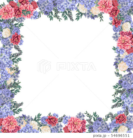 Floral frame for design save the date cards, invitations, posters and birthday decoration 54696551