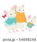 ねずみの親子 3匹 54698248