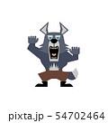威嚇する狼男のイラスト 54702464