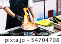 Chef cooking food in the kitchen, Chef preparing 54704798