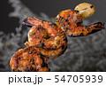 Skewer shrimps burnt grilled with spice seasoning. 54705939