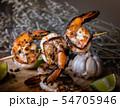 Skewer shrimps burnt grilled with spice seasoning. 54705946