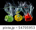 Water droping bell pepper or paprika. 54705953