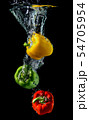 Water droping bell pepper or paprika. 54705954