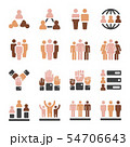 population skin tone icon set 54706643