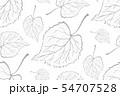 Decorative ornamental seamless leaf pattern. 54707528