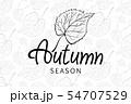 autumn leaves season black vector seamless leaf 54707529
