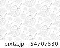 Decorative ornamental seamless leaf pattern. 54707530