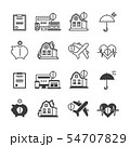 Life, house protection and safety icons set 54707829