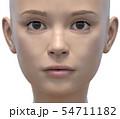 女性 ボディーパーツシリーズ 顔のクローズアップ perming3DCGイラスト素材 54711182