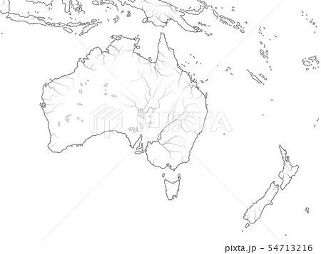 World Map of AUSTRALIA CONTINENT: Australia. 54713216