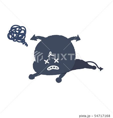 倒れるばい菌 手描き風 イラスト 54717168