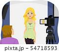 Teen Girl Audition Illustration 54718593