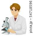 Teen Boy Microscope Illustration 54718596