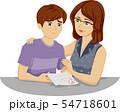 Teen Boy Exam Fail Illustration 54718601