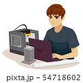 Teen Boy Civil Engineer Print 3D Illustration 54718602