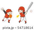 野球選手の男性 54718614