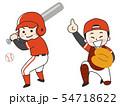 野球選手の男性 54718622