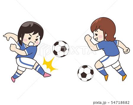 サッカー選手の女性 54718682