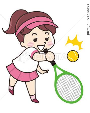 テニス選手の女性 54718853