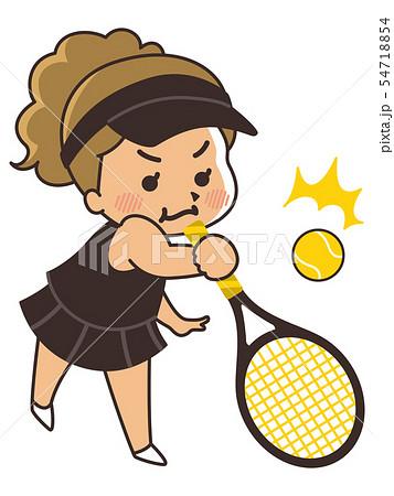 テニス選手の女性 54718854