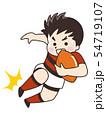 ラグビー選手の男性 54719107