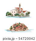 Watercolor montenegro vector illustration 54720042