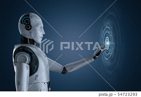 Robot with graphic display 54723293